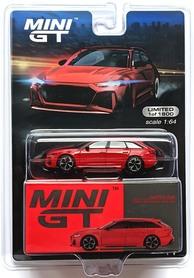 MINI GT AUDI RS 6 AVANT TANGO RED LHD