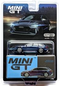 MINI GT AUDI RS 6 AVANT NAVARRA BLUE LHD
