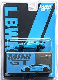 MINI GT LB WORKS LABORGHINI HURACAN GT ver . 1 LIGHT BLUE LHD #189