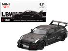 MINI GT LB-SILHOUETTE WORKS GT NISSAN 35GT-RR Matte Black RHD #169 (1)